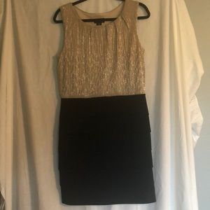 Tank dress with Grecian style skirt.